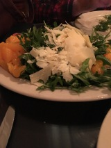 The huge salad. Yum!