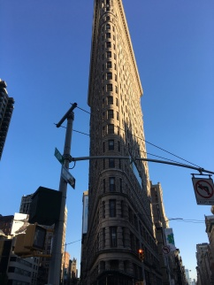 A poorly framed shot of the Flatiron building.