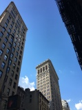 The other, less photographed side of the Flatiron building.